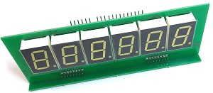 6 Digit Dimable LED Score display for Bally or Stern Pinball - SINGLE MODULE